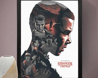 Stranger Things Poster, Eleven Poster, Netflix Print, Stranger Things Art, Stranger Things Poster Framed, Movie Poster, TV Prints