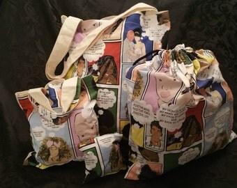 Cotton bag and purse set