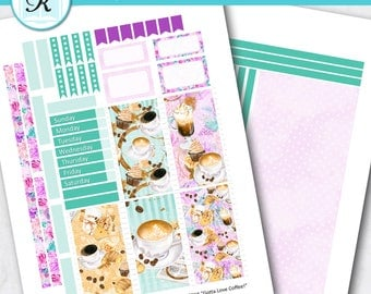 Passion Planner Stickers * Classic Sized Passion Planner * Printable Planner Stickers - GOTTA LOVE COFFEE - Digital Download
