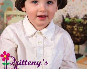 Hat Crochet Pattern / Baby Hat Crochet Pattern / Child Hat Crochet Pattern / Bowler Hat Crochet Pattern / Modern Bowler Hat Crochet Pattern