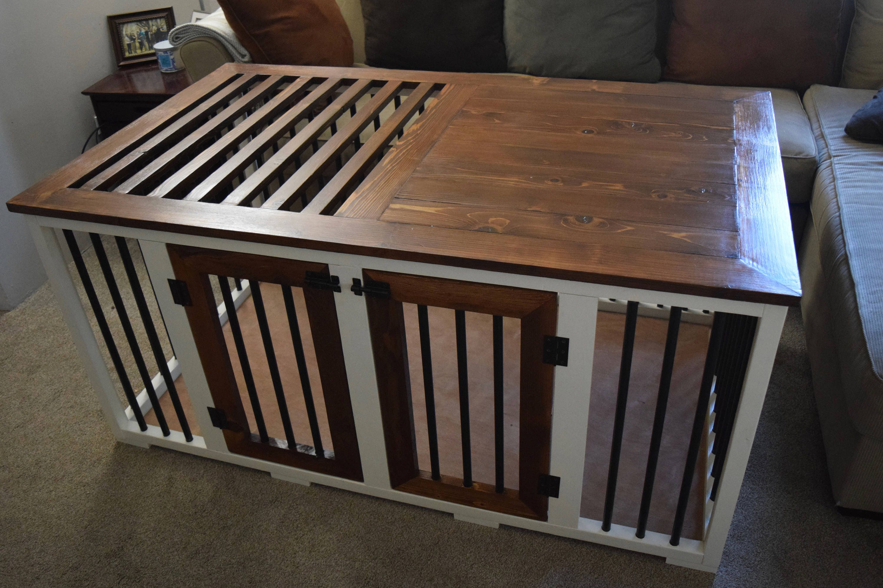 Custom Dog Crate Wooden Dog Kennel Unique Dog Crate