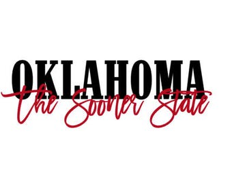Oklahoma The Sooner State SVG