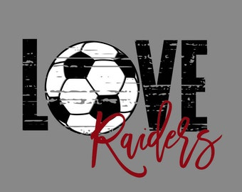 Love Raiders Distressed Soccer SVG/PNG