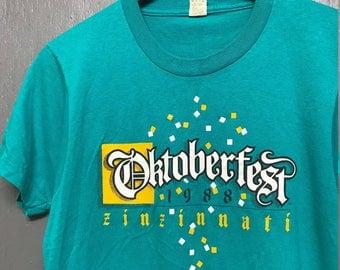 S vintage 80s 1988 Cincinnati Oktoberfest screen stars t shirt