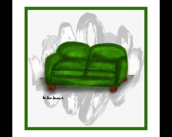 Green Love Seat (#6 in the Love Seat Collection)