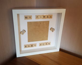 Fully Personalised/ Custom Pregnancy Announcement - Scan Photo Picture Frame, Ultrasound