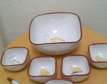 Vintage Dutch ceramic Haemstede dish-set.