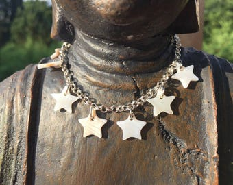 Bracelet Silver collection star mother of Pearl