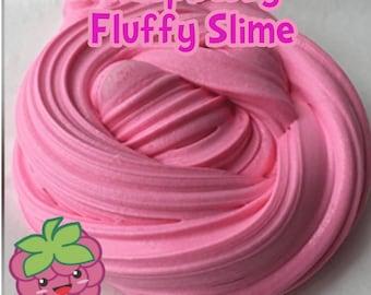 Raspberry Scented Fluffy Slime ~ fluffy slime ~ fruit scented slime