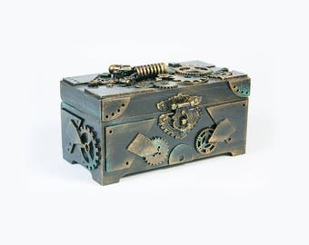Box in steampunk style Watch box Steampunk Gift for him Mens Gift Gift for boyfriend Birthday gift
