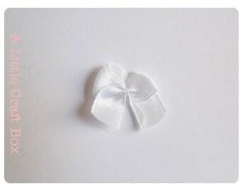 20 - white satin bows