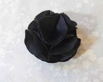 Small black silk flower hair clip/brooch, wedding, romantic, Bohemian accessories, ceremony, handmade