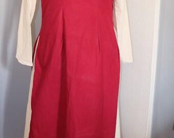 Medieval RUR-dress / historical RUR-dress with medieval stripe cotton