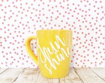 Sunshine Coffee Mug Yellow 12oz Stoneware