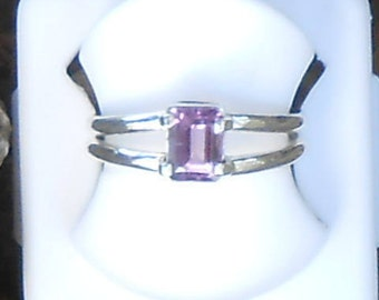 Amethyst ring size Emerald silver 950 (on request)