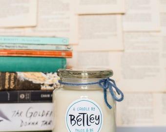 Betley | Large Nectarine & Mint | Natural Soy Candle | Handmade | Social Enterprise