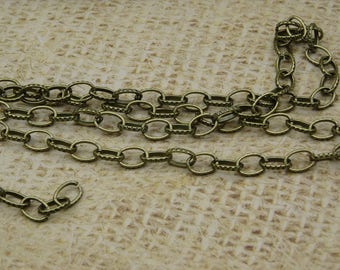 2 m chain links oval cut 7mm