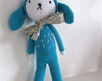 Misty the rabbit crocheted by hand 100% cotton, plush, amigurumi, decoration