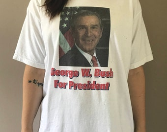 Vintage George W Bush T-Shirt Size M