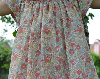 Dress liberty flower tops and smocking