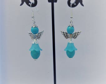 """Angels"" turquoise earrings"