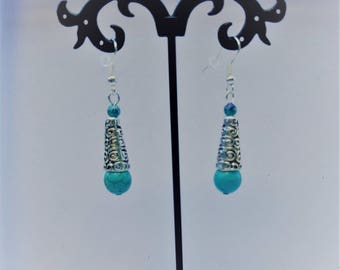 Celtic style earrings turquoise