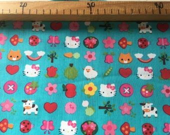 Fabric Japanese cats and small animals