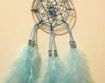 dream catcher / Dreamcatcher circular blue color for 7 cm mirror