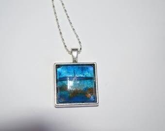 Support cabochon 20mm unique necklace