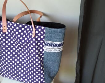 Bag retro blue dots