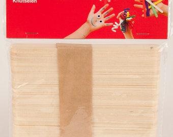 Bâtonnet en bois x 50 (11,4 x 1 cm) - APLI - Ref 13063 ---------- Jusqu'à épuisement du stock !