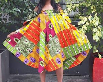 WAX TRAPEZE DRESS