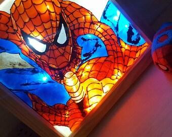 Superhero handpainted light box