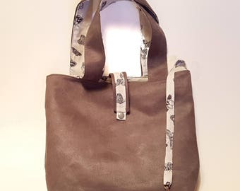 Grey fabric bag tote bag