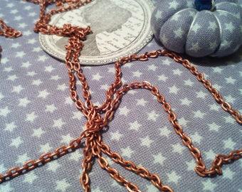 x 1 meter of chain fine mesh brass copper!