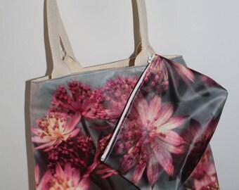 Large handbag fabric coated with Kit