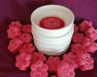 Raspberry Scent - Soy Wax Melt - Hand Poured -Handmade - 6 Pack