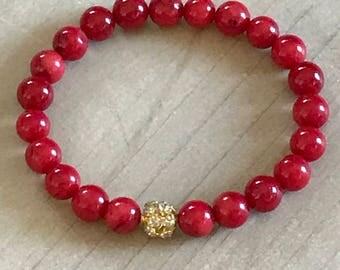 Red Coral Bracelet,Yoga bracelet,boho bracelet,spiritual bracelet,yoga bracelet,boho jewelry,passion bracelet,gemstone bracelet,yoga jewelry
