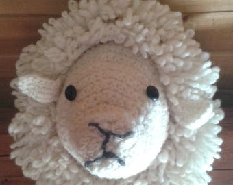Deco - crocheted 100% sheep natural wool.