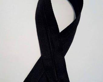 Nylon black zipper 30 cm