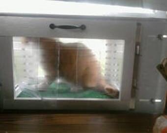 "Kitty Peeper Cat Window Patio-Catio-Solarium (Small model) 18"" wide."
