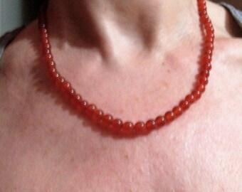 women carnelian necklace