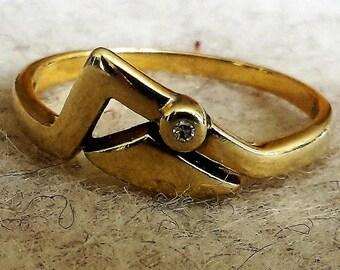 Ring gold 585 with diamond Splitter