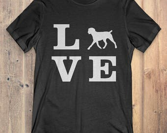 German Wirehaired Pointer Dog T-Shirt Gift: I Love German Wirehaired Pointer