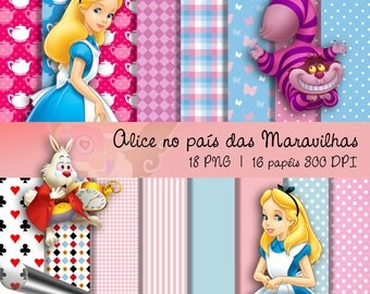 Kit Digital Scrapbook ALICE WONDERLAND-Kit 1
