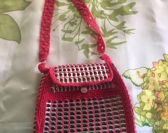 Locherita Purse Recycled Soda Tab Hand Lunch Bag Purse