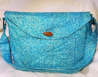 Quilted Messenger Bag