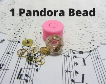Silicone molds in the form of beads Pandora (15 * 11 and 14 * 9 mm)