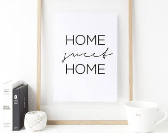 Poster - Home Sweet Home black