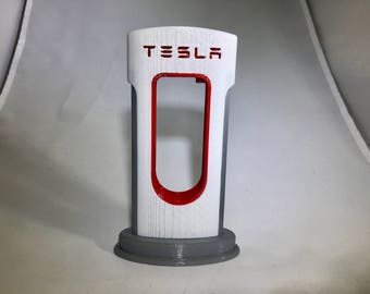 Tesla 3D printed Apple iPhone / Android Charging Station SuperCharger